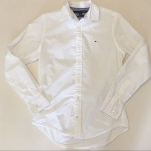 Tommy Hilfiger Crisp White Oxford Button Down - Q